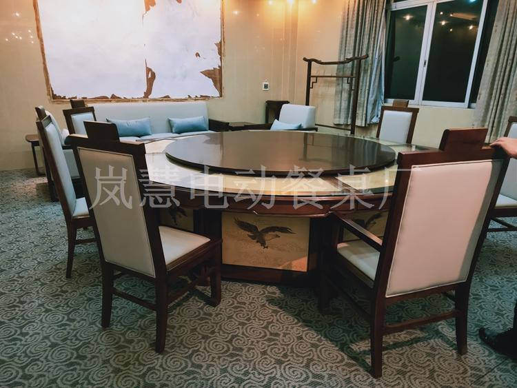豪华大理石电动餐桌椅
