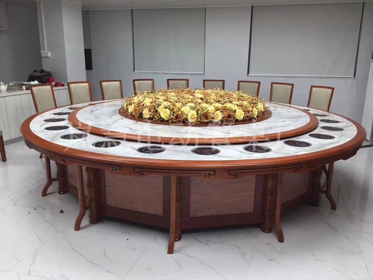 高级电动圆桌餐桌