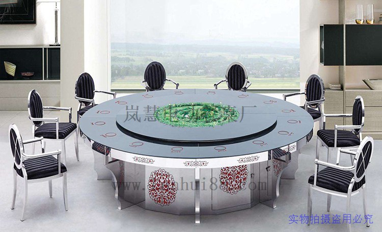会所电动圆餐桌价格