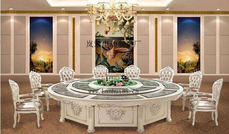 雕花电动餐桌图