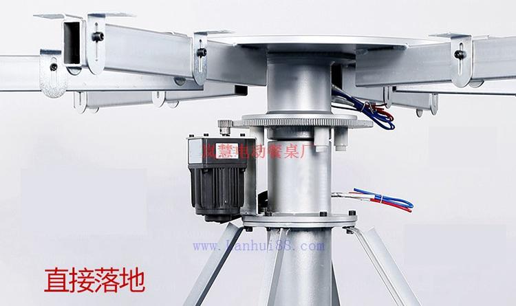 高档火锅电动桌大理石入框电机