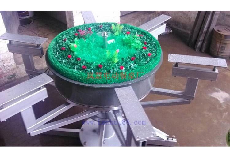 电动转盘餐桌新款喷泉盆景