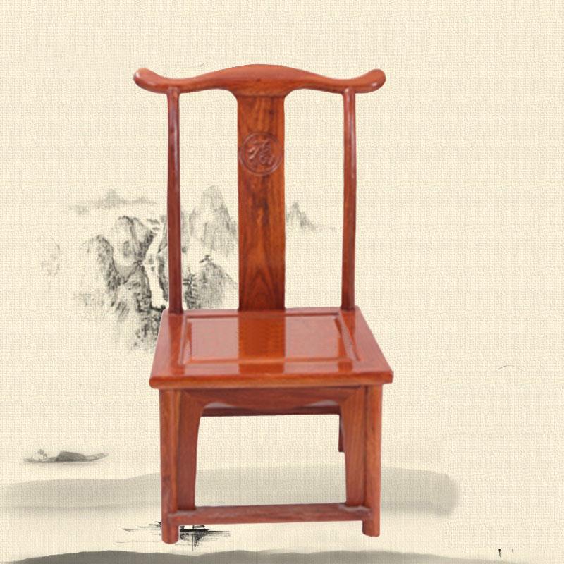 简约现代六角椅,客厅家具实木餐椅官帽椅