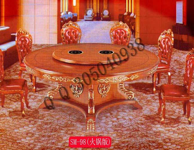 专业生产圆形电动火锅桌子