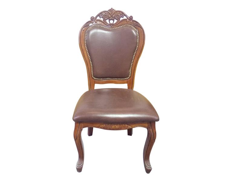 厂家直销软垫靠背椅真皮软包餐椅