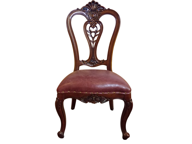 酒店欧式雕花餐椅批发颜色订制