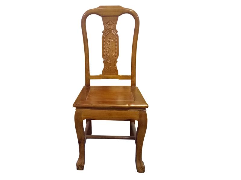 佛山饭店餐厅餐椅厂,酒店餐厅原木色实木餐椅餐