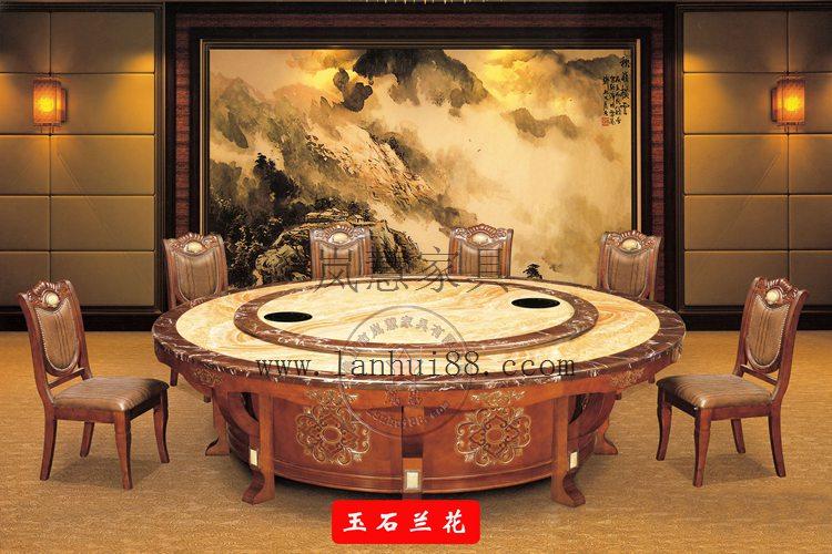 大型豪华电动餐桌转盘机芯|龙凤送财自动餐桌批