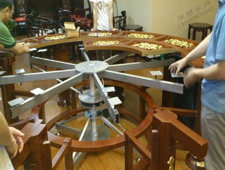 包厢专用大型电动餐桌机芯图