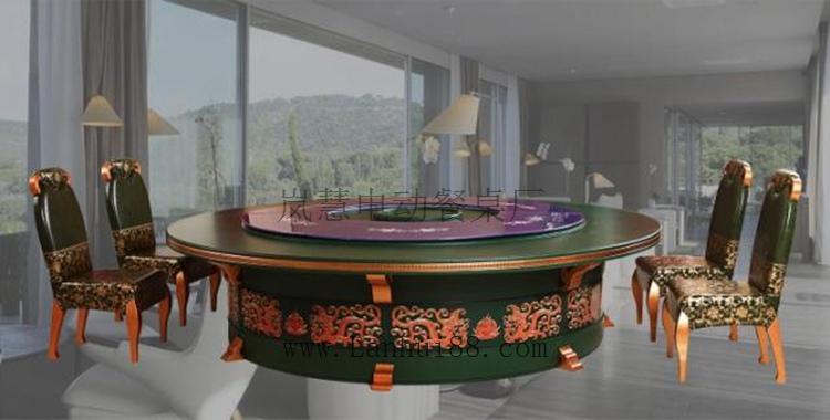 旋转自动式的电动桌子