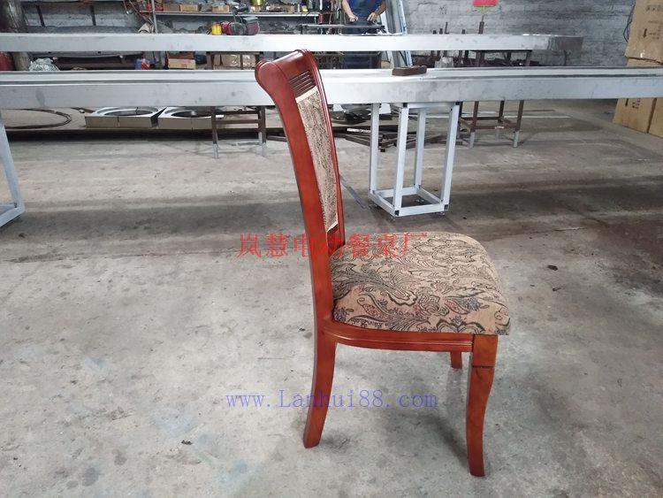 实木餐椅侧面图