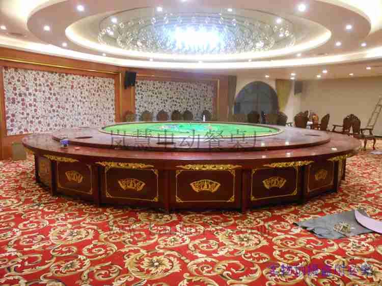 酒店大型电动餐桌4.8米报价