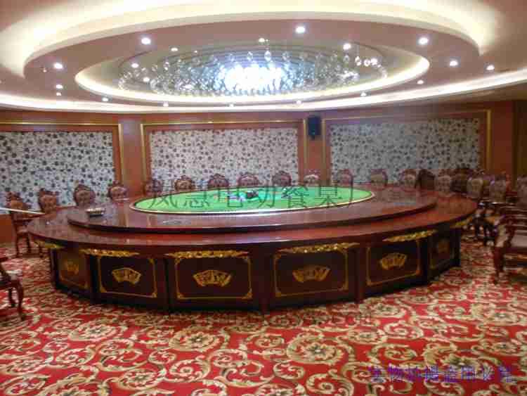 酒店大型电动餐桌4.8米图