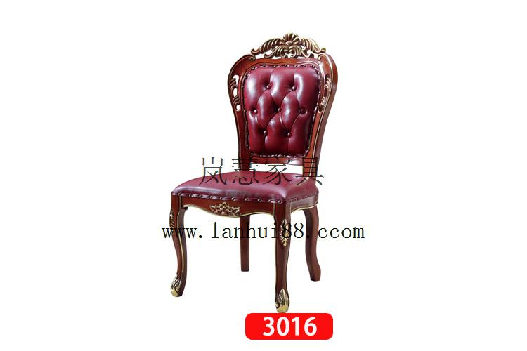 2017新款酒店餐椅批发订制双花椅