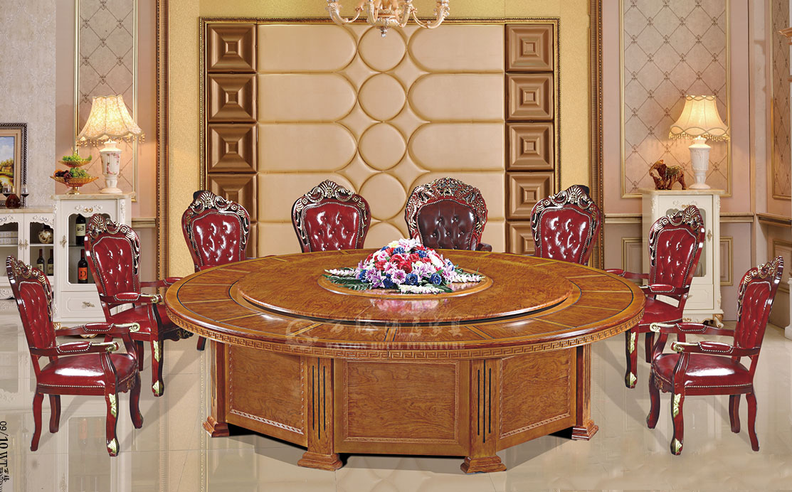 橡木酒店家具宴会餐桌