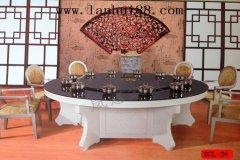 酒店新中式电动餐桌