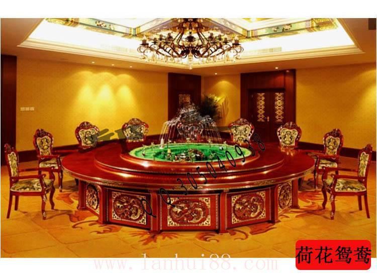 荷花鸳鸯-电动餐桌