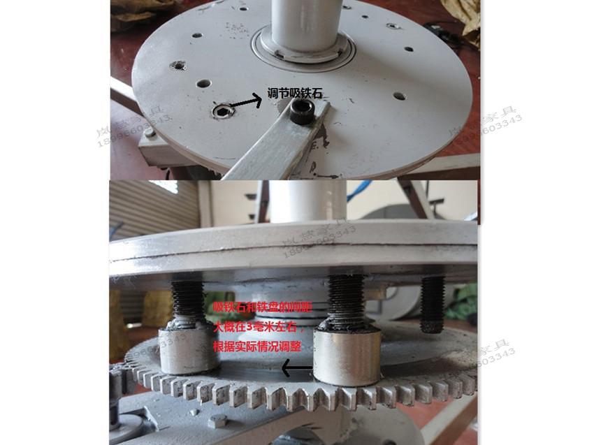 电动机制动等原理,牵引大小齿轮带动桌面转盘