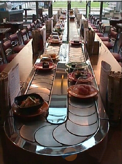 传送带电动餐桌