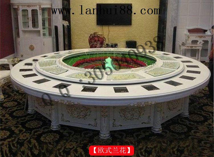 欧式兰花自动餐桌