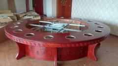 电动餐桌围板安装