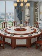 新中式高档大理石餐桌