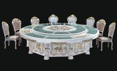 自动转盘旋转大圆餐桌